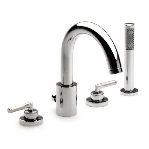Roca Loft Elite Deck Mounted Bath Shower Mixer Tap With Kit